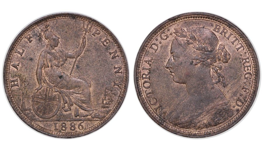 1886 Halfpenny, gEF or better, Victoria, Freeman 356, Peck 1841, Ex Pywell-Phillips collection