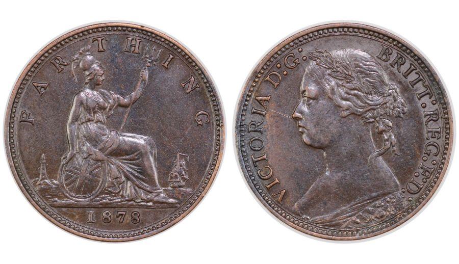 1878 Farthing, gVF/nEF scratched, Victoria, Freeman 536