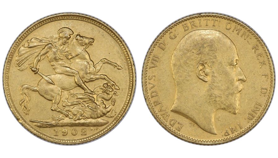 1902 Matt proof Sovereign, Edward VII, EF, Sp. 3969