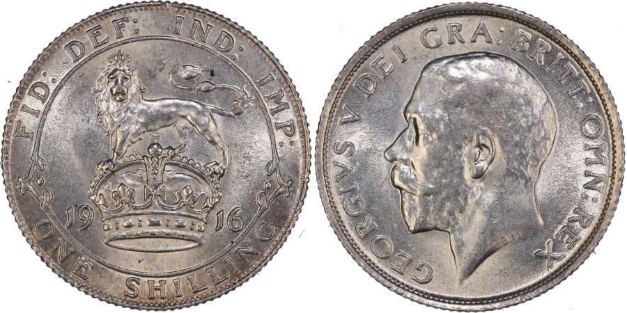 1916 shilling, gEF, Bull 3805, ESC 1426