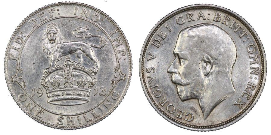1913 Shilling, George V, EF, ESC 1423