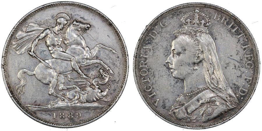 1889 Crown, Victoria, VF, ESC 299, Bull 2589