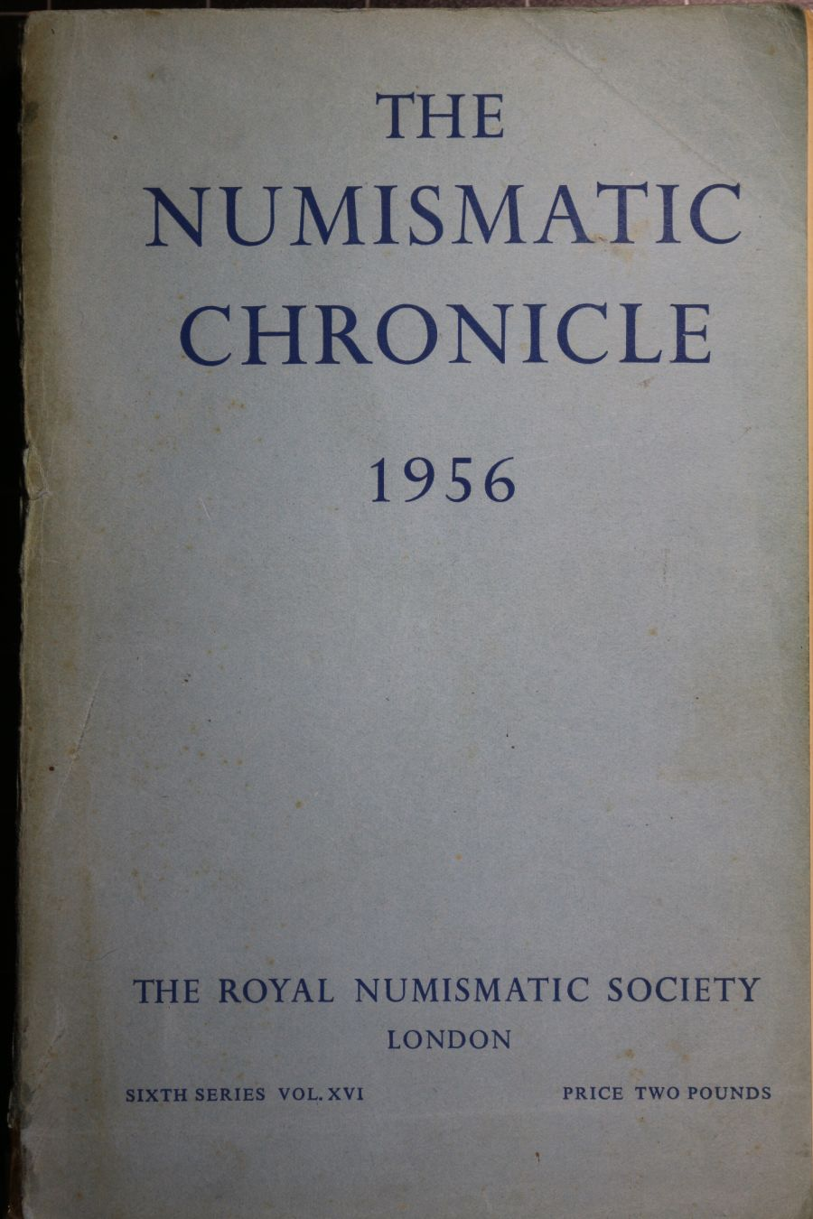 The Numismatic Chronicle 1956