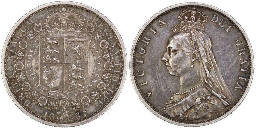 1887 Halfcrown, nEF, Victoria, ESC 719
