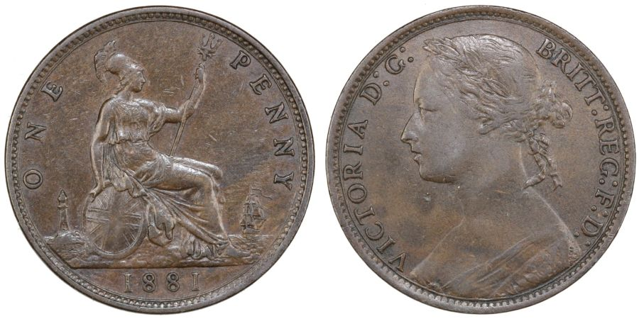 1881 Penny, doubled '88', Unreferenced variety, Victoria, nEF/gVF