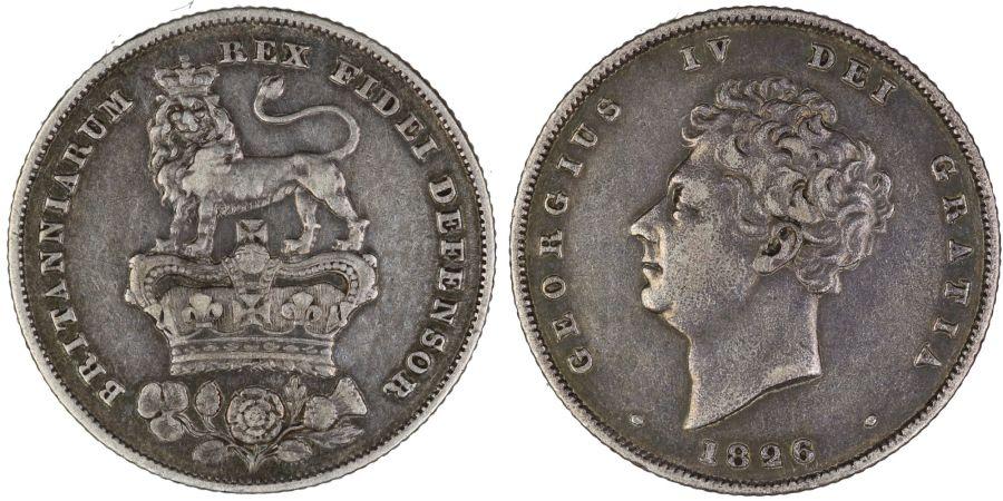 1826 Shilling, gF, George IV, Bull 2409, ESC 1257