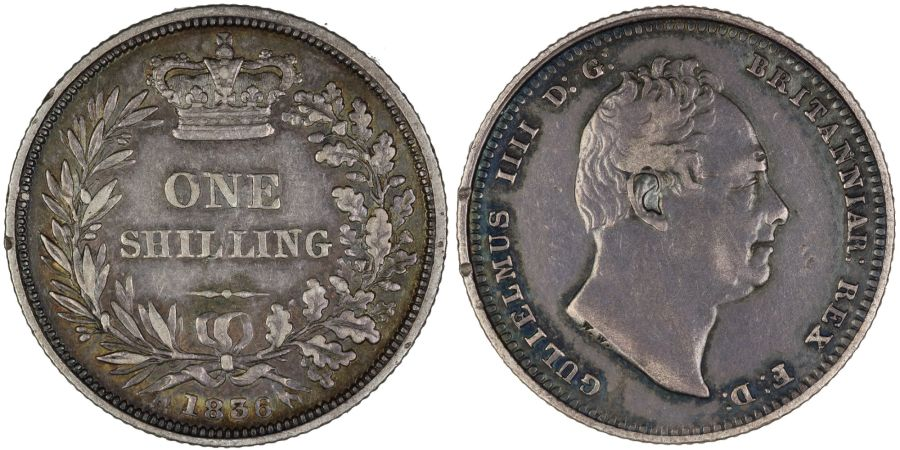 1836 Shilling, William IV, Bull 2494, ESC 1273