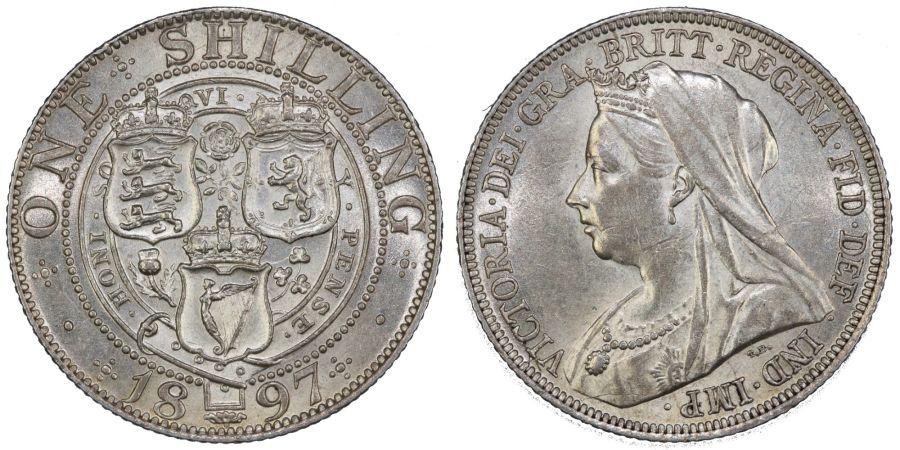 1897 Shilling, gEF, Victoria, ESC 1366