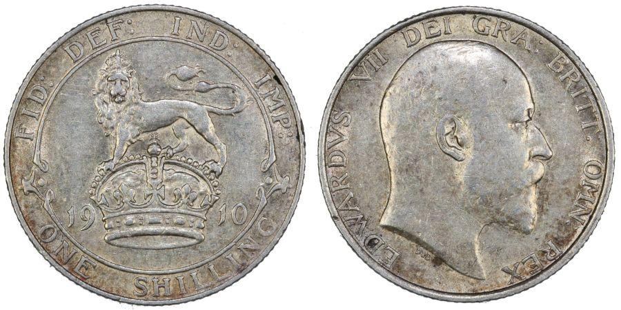 1910 Shilling, gVF, Edward VII, ESC 1419