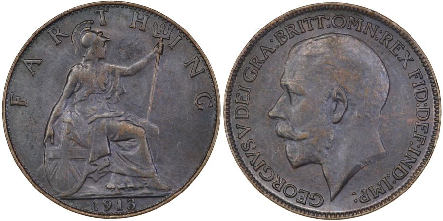 1913 Farthing, George V, Freeman 591