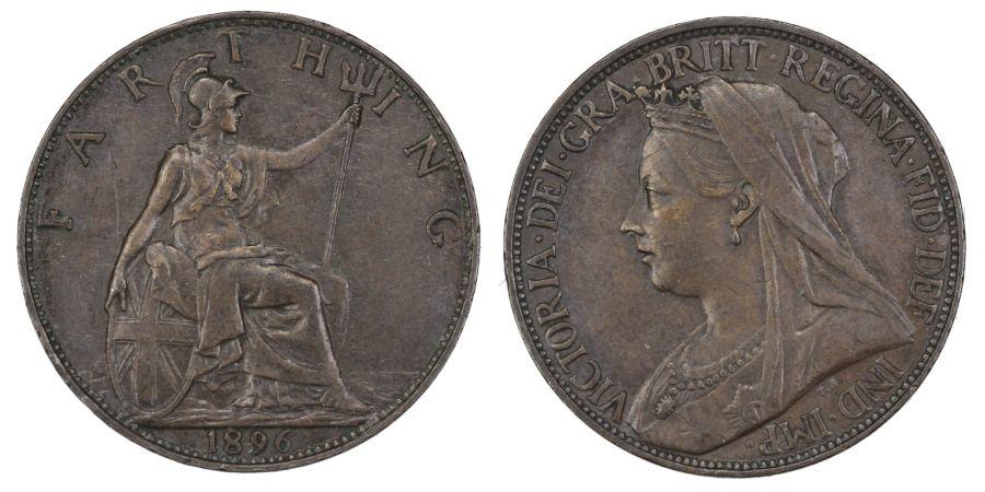 1896 Farthing, gEF/aUNC, Victoria, Freeman 572