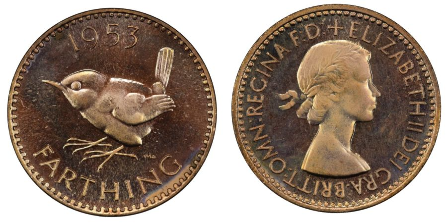 1953 Farthing proof, FDC, Elizabeth II, Freeman 664