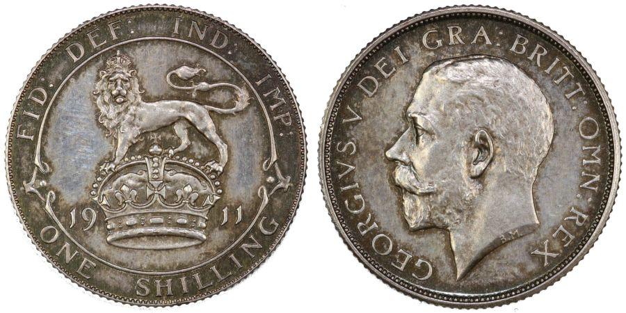 1911 'Proof ' Shilling, George V, Bull 3800, ESC 1421, Scarce