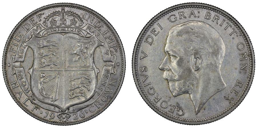 1926 Halfcrown, gVF, George V, ESC 773
