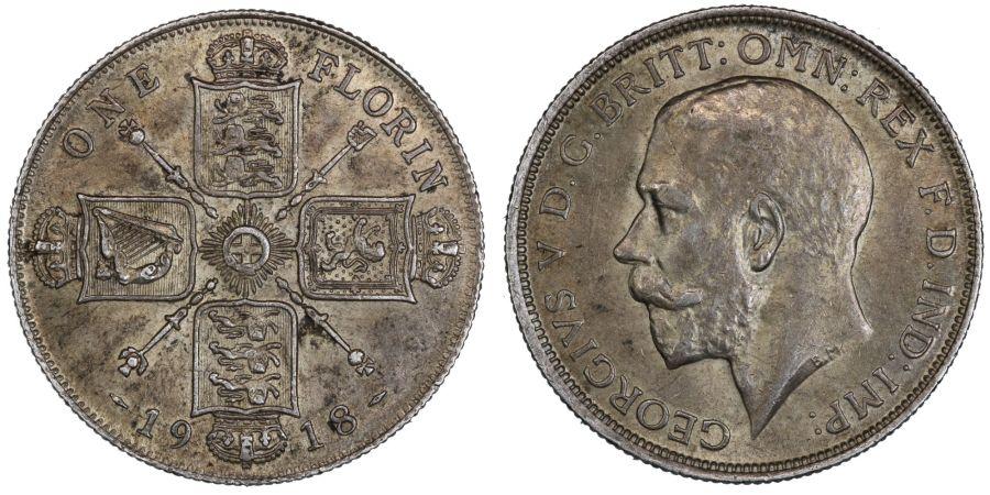 1918 Florin, nEF, George V, ESC 765