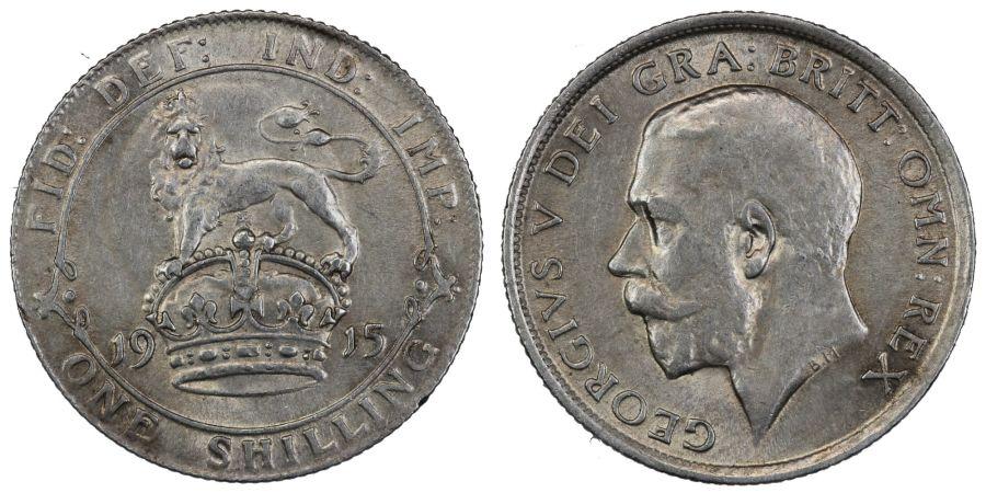 1915 Shilling, nEF, George V, ESC 1425