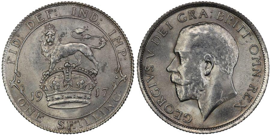 1917 Shilling, AU, George V, ESC 1427, Bull 3806