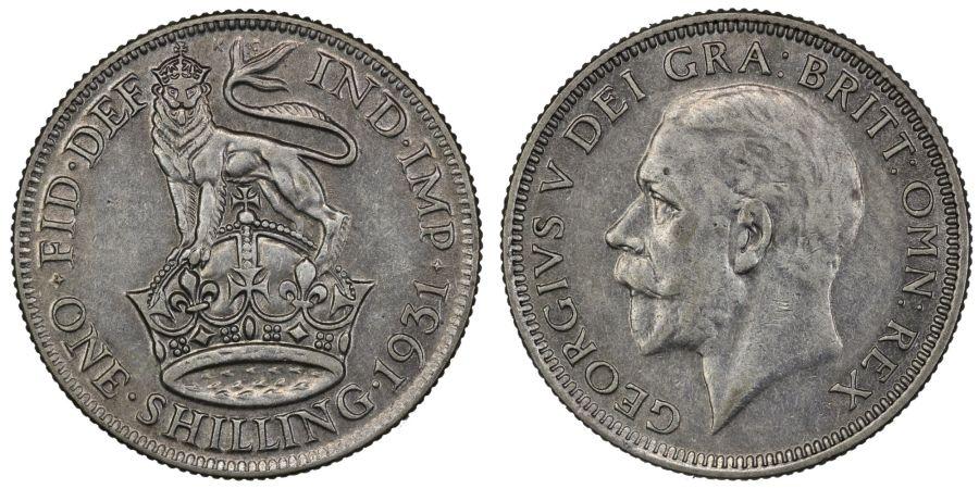 1931 Shilling, nEF, George V, ESC 1444, Bull 3839