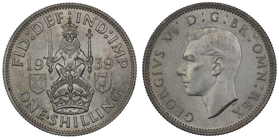 1939 'Scottish' Shilling, aUNC, ESC 1457, Bull 4156, Scarce