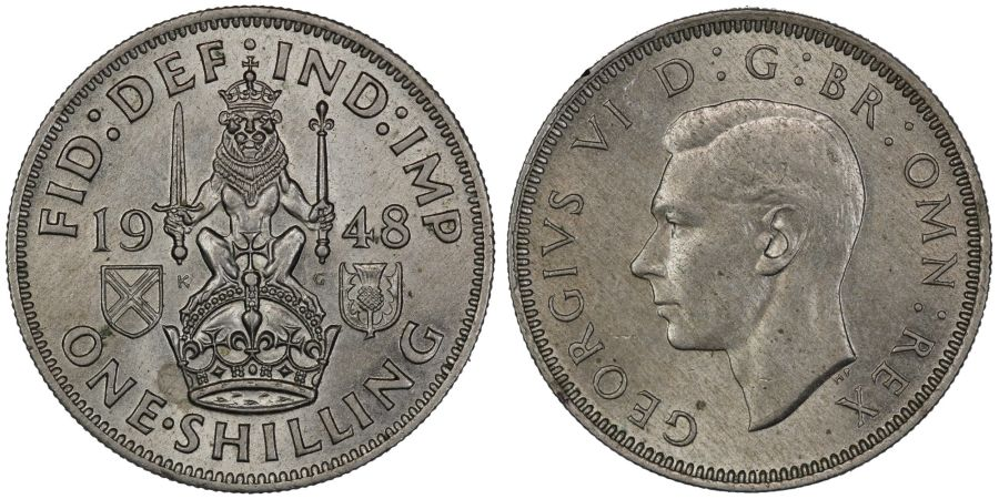 1948 'Scottish' Shilling, UNC or near so, ESC 1475, Bull 4890