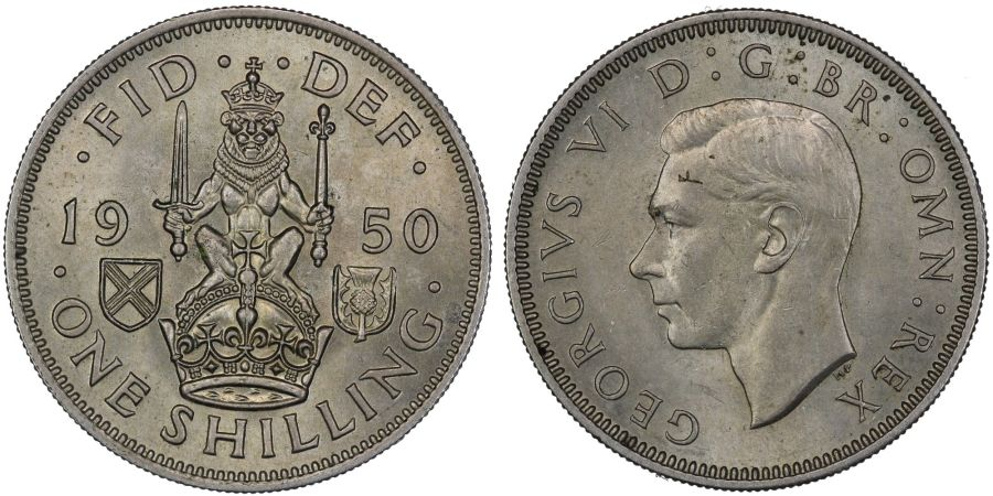 1950 'Scottish' Shilling, AU, George VI, ESC 1475E, Bull 4207