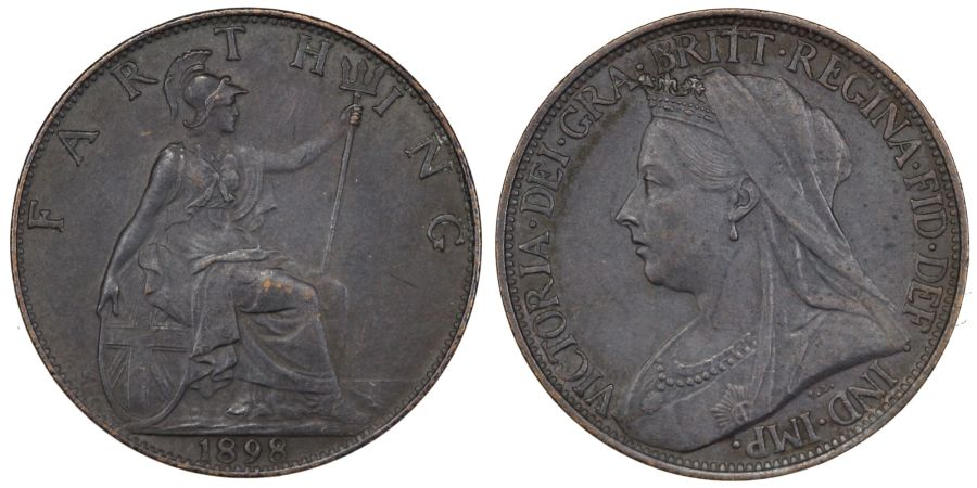 1898 Farthing, Victoria, gEF, Freeman 576