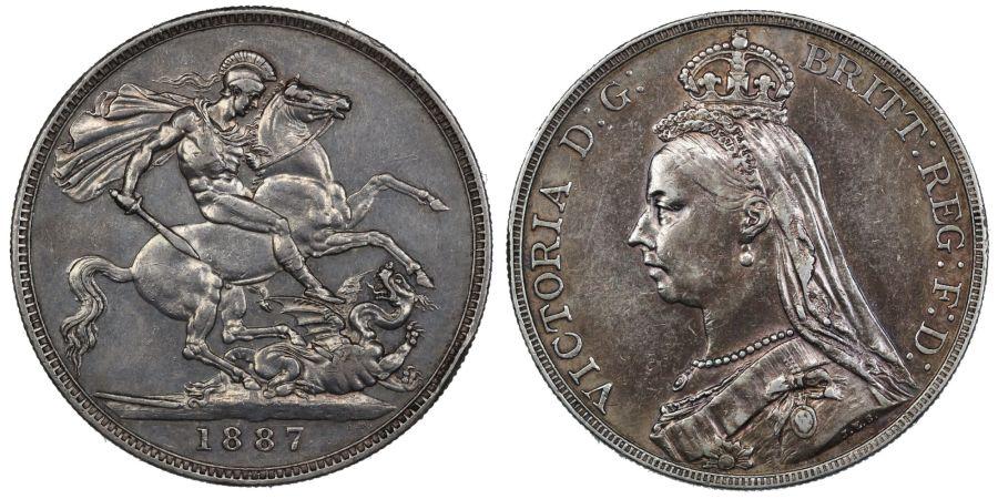 1887 Crown, gVF, Victoria, ESC 298, Bull 2585