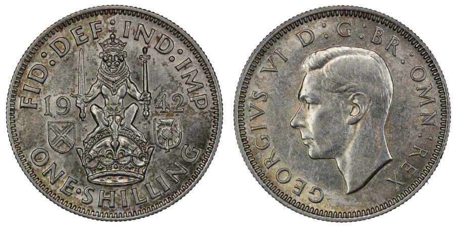 1942 'Scottish', aUNC, George VI, ESC 1463, Bull 4164