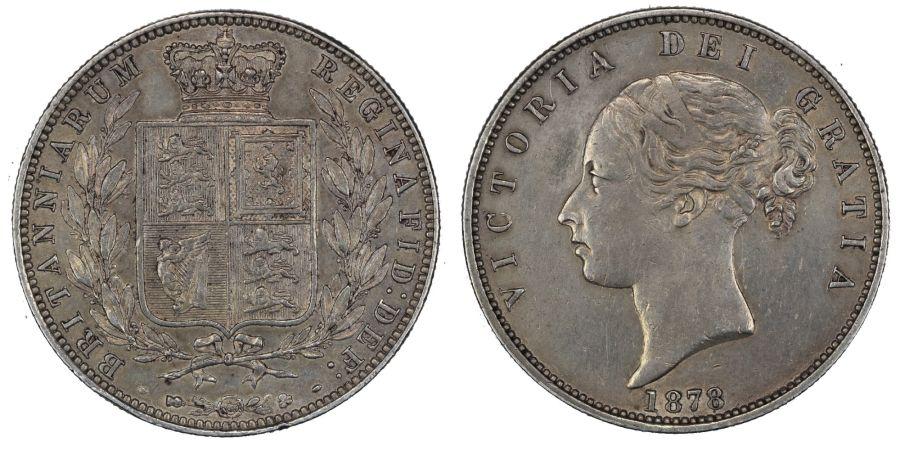 1878 Halfcrown, aEF, Victoria, Scarce, ESC 701, Bull 2751