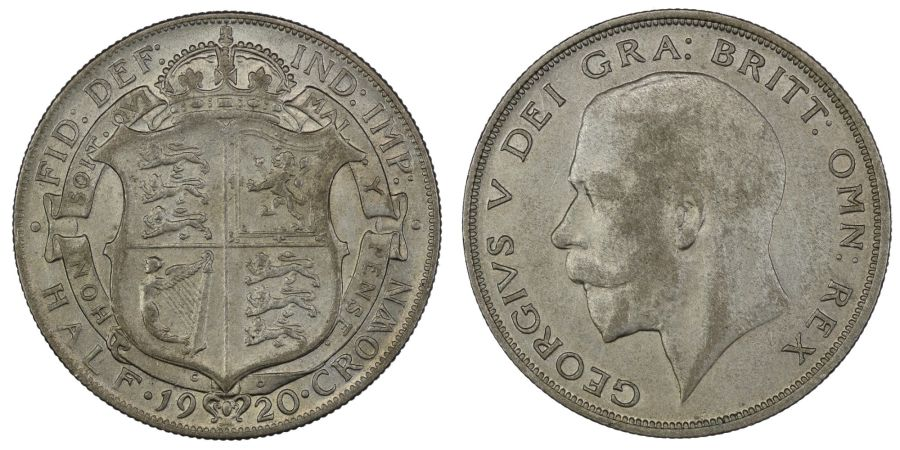 1920 Halfcrown, EF weakly struck with golden tone and lovely mint bloom to the reverse, George V, Davies 1675, 3+A, ESC 767
