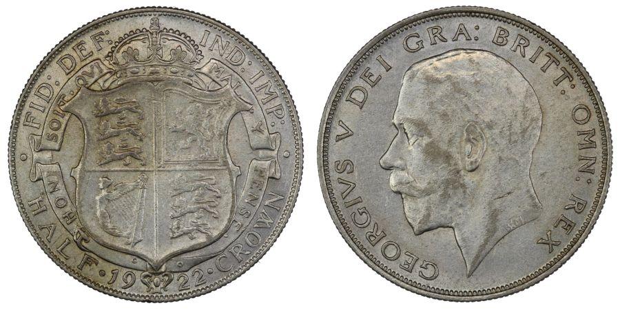 1922 Halfcrown, gVF/VF, George V, ESC769, Bull 3723, Scarce