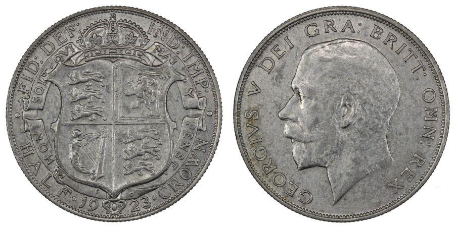 1923 Halfcrown, gVF/nEF, George V, ESC 770, Bull 3724