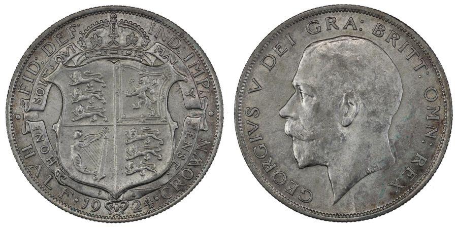 1924 Halfcrown, EF/nEF,George V, ESC 771