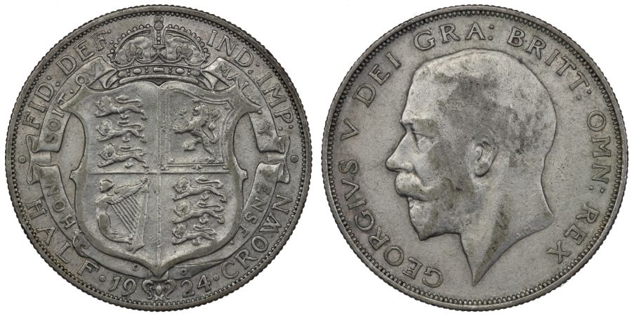 1924 Halfcrown, VF, George V, ESC 771
