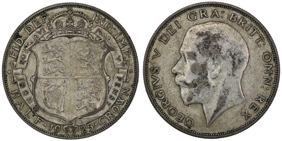 1925 Halfcrown, VF/gVF, George V, ESC 772