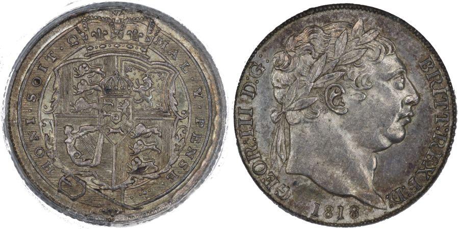 1818 Sixpence, CGS 78, UNC, George III, UIN 22900
