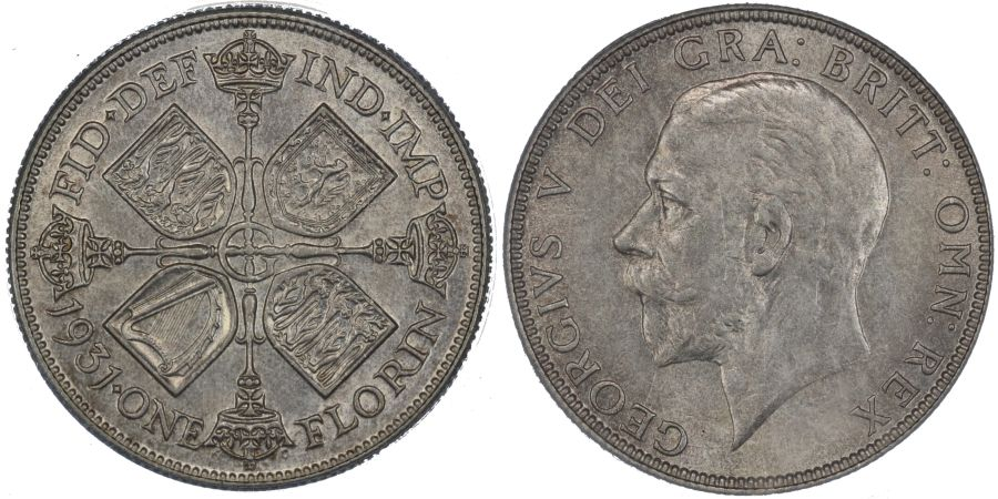 1931 Florin, CGS 78, UNC, George V, ESC 951, UIN 25876
