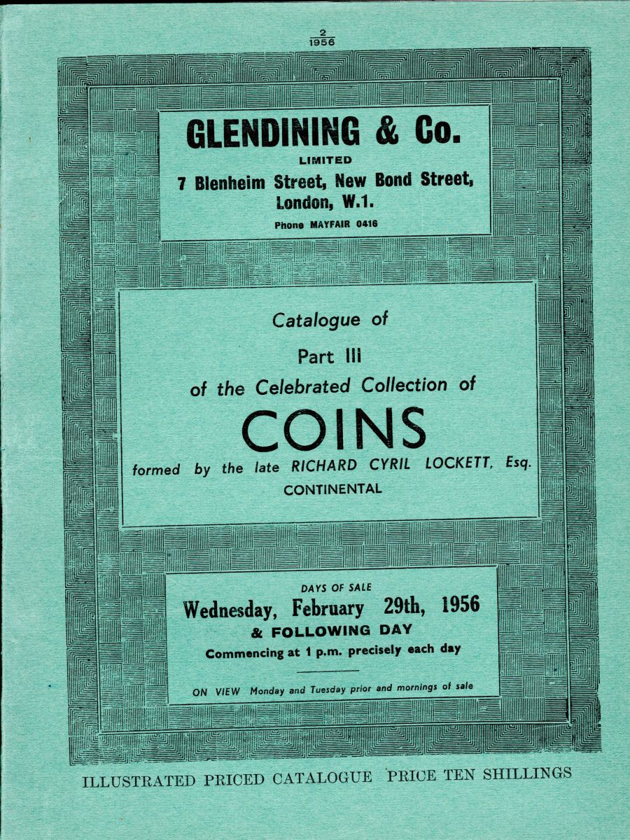 Lockett, Part III - Continental, Glendining & Co, 29th February 1956, Priced