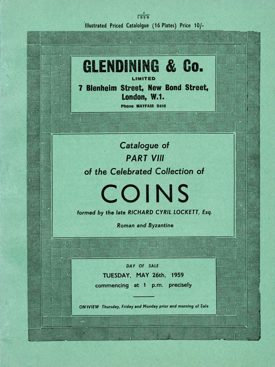 Lockett, Part VIII - Roman and Byzantine, Glendining & Co, 26th May 1959