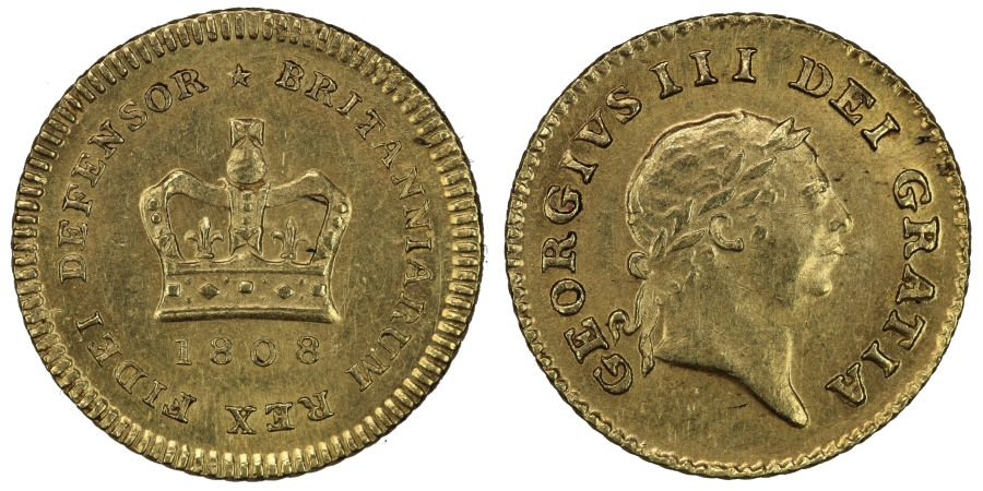 1808 Third Guinea, EF, George III, Selig 1075, S. 3740