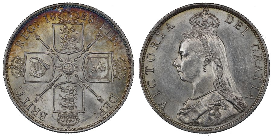 1888 Florin, gEF, Victoria, ESC 870A, Bull 2956, Davies 813