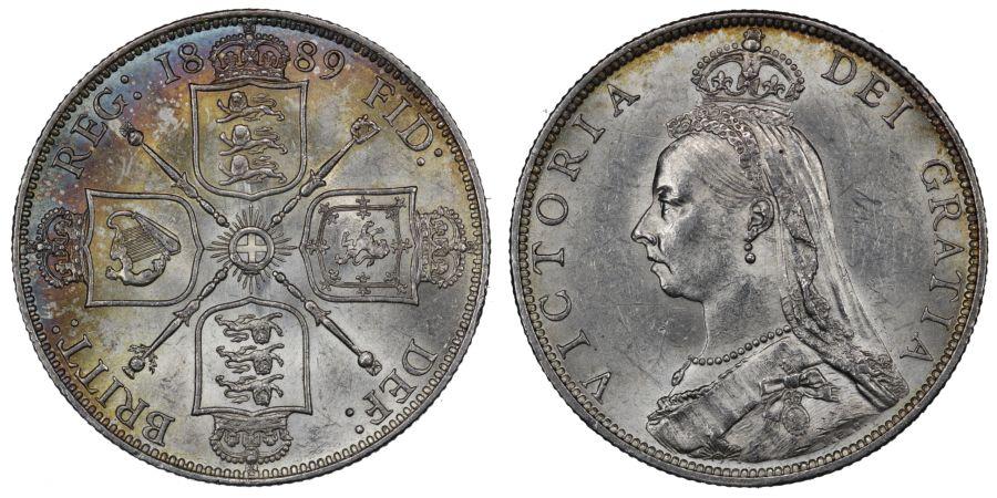 1889 Florin, gEF/EF, Victoria, ESC 871, Bull 2957, Davies 815, 3+C