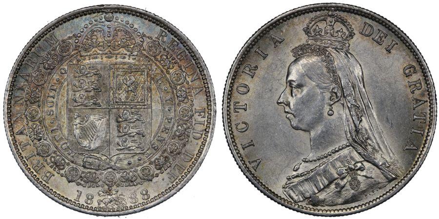 1888 Halfcrown, EF/gEF, Victoria, ESC 721, Bull 2773, Davies 642