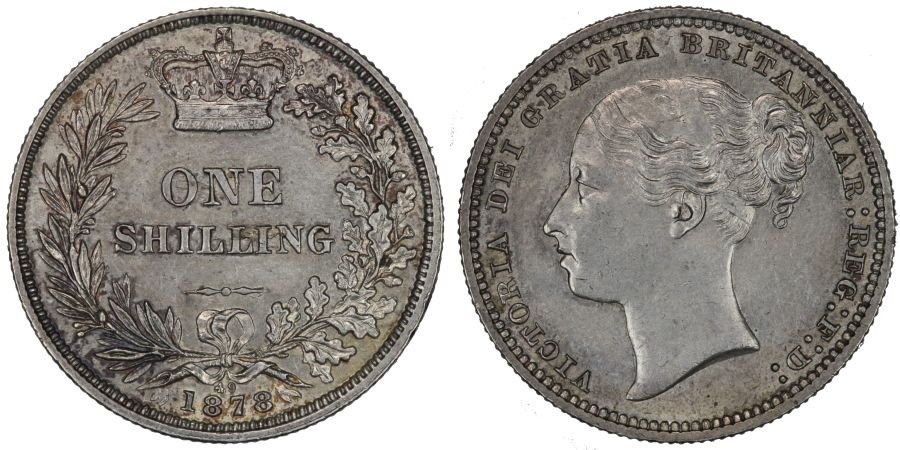 1878 Shilling, Die 49, gEF or better, Victoria, ESC 1330, Bull 3049, Davies 908, Dies 6+B, S. 3907A