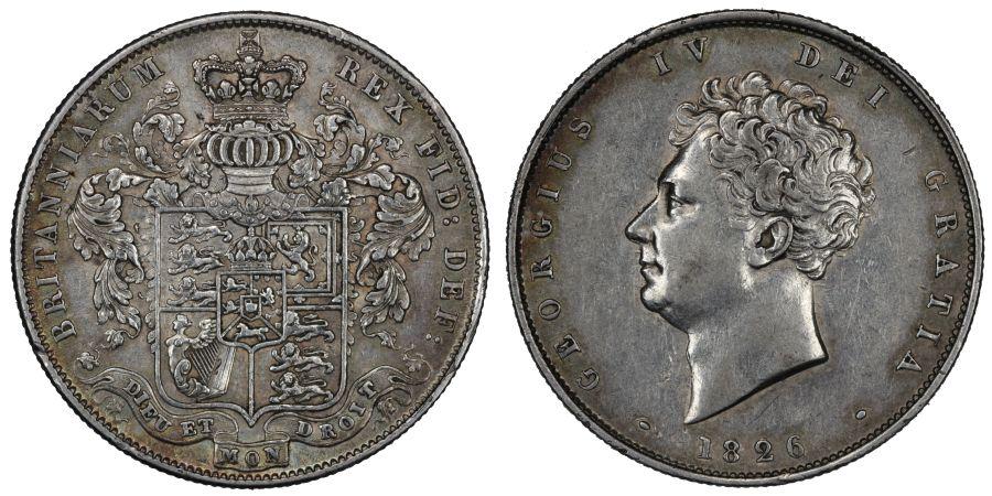 1826 Halfcrown, gVF, George IV, ESC 646, Bull 2375