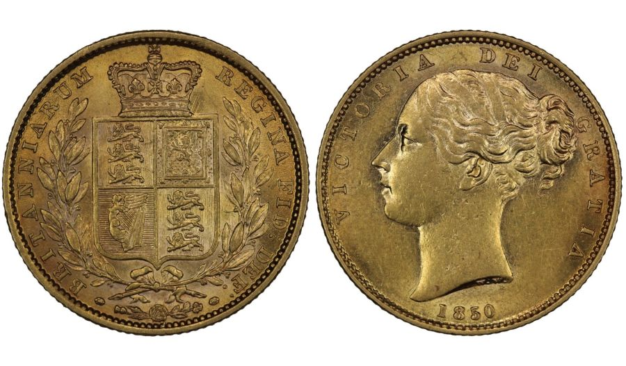 1850 Sovereign, Choice EF/gEF, Rare, Victoria, Bentley 59, Marsh 33, S. 3852C