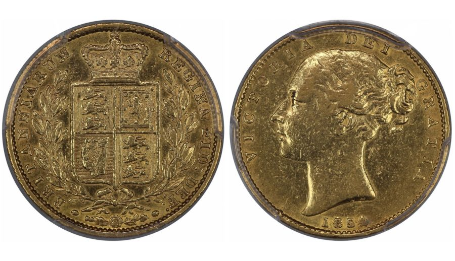 1854 Sovereign, WW incuse, PCGS AU Details - Polished, Victoria, Marsh 37