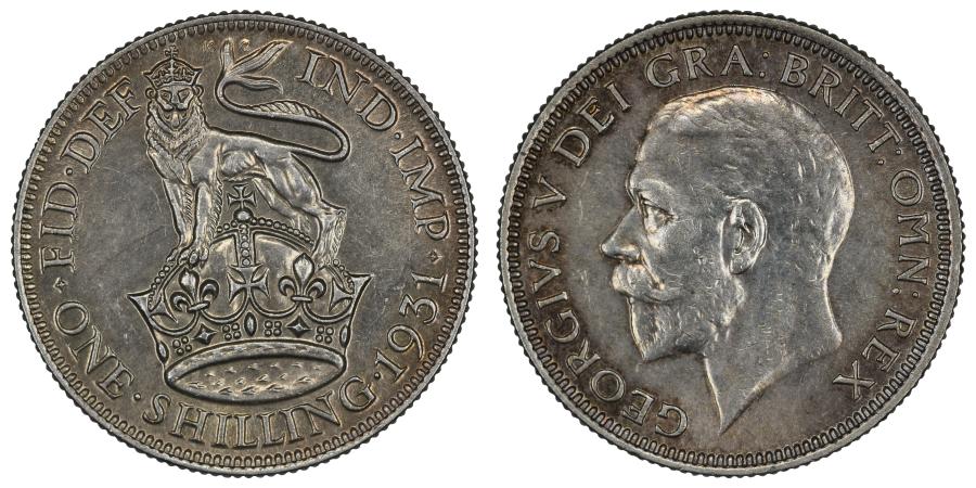 1931 Shilling, gEF, George V, ESC 1444, Bull 3839