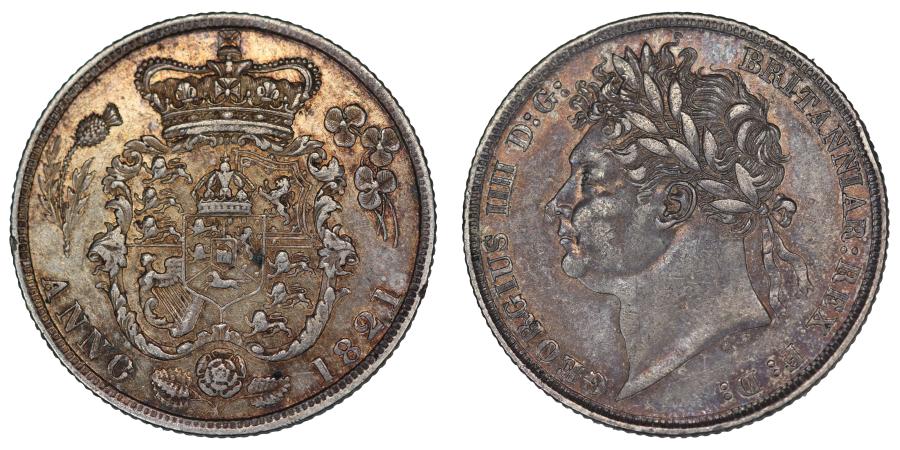 1821 Shilling, George IV, gVF, Bull 2396, ESC 1247, C&R 1197, Scarce