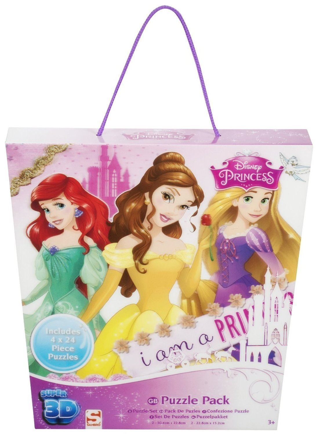 Disney Princess 4 Pack Super 3D Puzzle